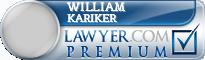 William Henry Kariker  Lawyer Badge