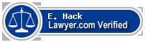 E. W. Hack  Lawyer Badge