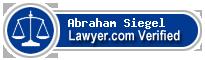 Abraham Joseph Siegel  Lawyer Badge