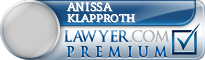 Anissa M Klapproth  Lawyer Badge