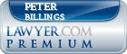Peter Gilbert Billings  Lawyer Badge