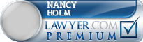 Nancy Holm  Lawyer Badge