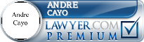 Andre Cayo  Lawyer Badge