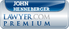 John A Henneberger  Lawyer Badge