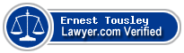 Ernest Lee Tousley  Lawyer Badge
