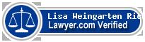 Lisa Weingarten Richards  Lawyer Badge