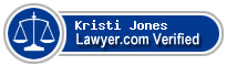 Kristi Aufderheide Jones  Lawyer Badge