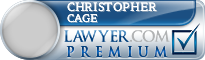Christopher Allen Cage  Lawyer Badge