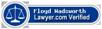 Floyd E. Wadsworth  Lawyer Badge