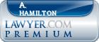 A. Walter Hamilton  Lawyer Badge