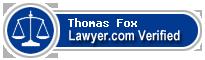 Thomas Wilmer Fox  Lawyer Badge