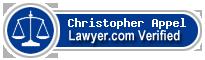 Christopher John Appel  Lawyer Badge