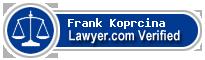 Frank John Koprcina  Lawyer Badge