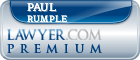 Paul V. Rumple  Lawyer Badge