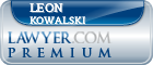 Leon E. Kowalski  Lawyer Badge