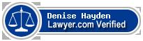 Denise Faye Hayden  Lawyer Badge