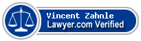 Vincent Depaul Zahnle  Lawyer Badge