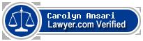 Carolyn Johnson Ansari  Lawyer Badge