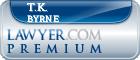 T.K. Byrne  Lawyer Badge