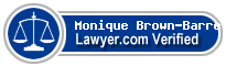 Monique Brown-Barrett  Lawyer Badge