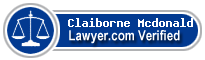 Claiborne Mcdonald  Lawyer Badge