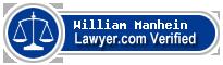 William E Manhein  Lawyer Badge