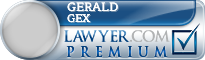 Gerald Calhoun Gex  Lawyer Badge