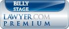 Billy Edward Stage  Lawyer Badge