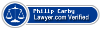 Philip E Carby  Lawyer Badge