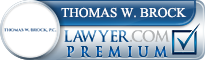Thomas W Brock  Lawyer Badge