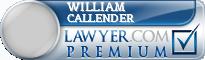 William C Callender  Lawyer Badge
