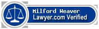 Milford Ambrose Weaver  Lawyer Badge