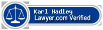 Karl Ernst Hadley  Lawyer Badge