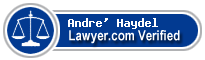 Andre' Thomas Haydel  Lawyer Badge