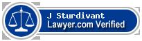 J Walker Sturdivant  Lawyer Badge