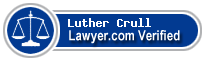 Luther P Crull  Lawyer Badge