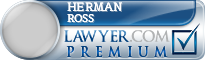 Herman H Ross  Lawyer Badge