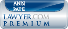 Ann Marie Mayers Pate  Lawyer Badge