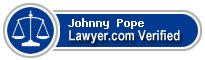 Johnny Wayne Pope  Lawyer Badge