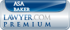Asa Wade Baker  Lawyer Badge