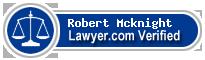 Robert Edward Mcknight  Lawyer Badge