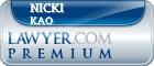 Nicki Kao  Lawyer Badge