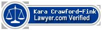 Kara Crawford-Fink  Lawyer Badge