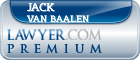 Jack Van Baalen  Lawyer Badge