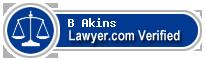 B Sean Akins  Lawyer Badge
