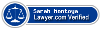 Sarah Marie Montoya  Lawyer Badge