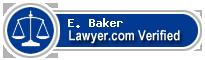 E. Clifton Baker  Lawyer Badge