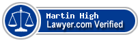 Martin Scott High  Lawyer Badge