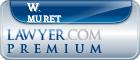 W. Franklin Muret  Lawyer Badge