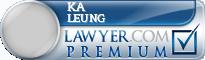 Ka H Leung  Lawyer Badge